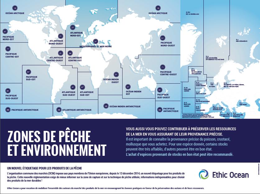 Poster zones de pêche et environnement